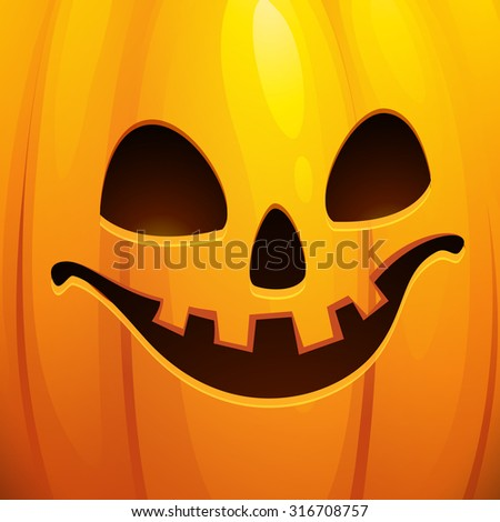 Funny Halloween greeting card. Vector illustration EPS 10