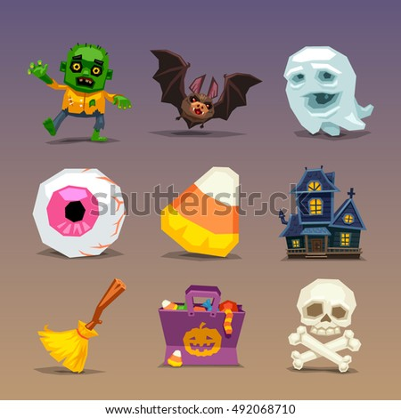 Funny halloween icons-set 1