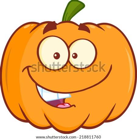 Funny Halloween Pumpkin Mascot Character - stock vector