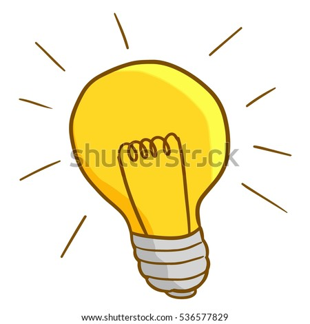 Funny Lamp funny idea lamp turn on vector stock vector 536577829 - shutterstock