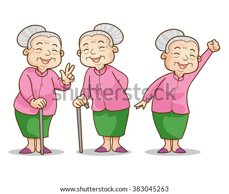 old lady cartoon stock images royaltyfree images