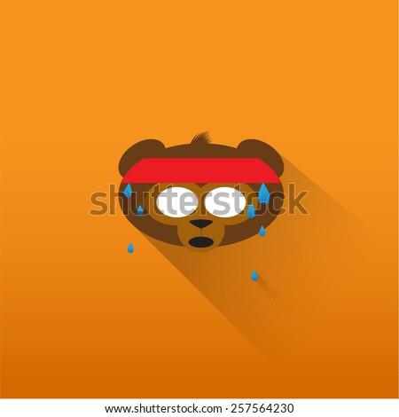 Funny monkey face - stock vector