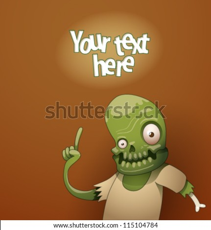 Funny monsters background 07, vector - stock vector