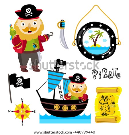 funny onearmed pirate parrot on his stock vector hd royalty free rh shutterstock com Elegant Swirl Designs Clip Art Small Pirate Flag Clip Art