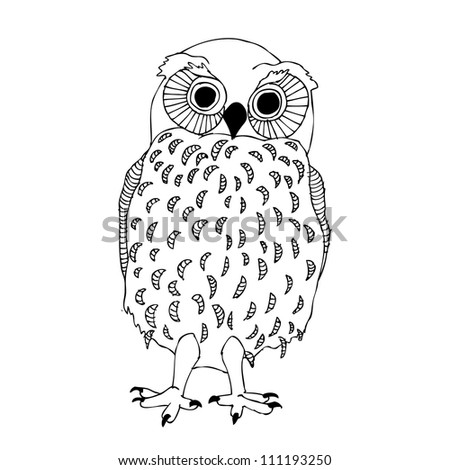 funny owl - stock vector