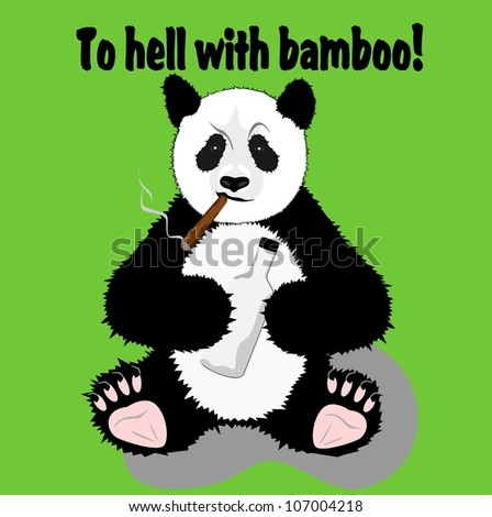 Funny panda - stock vector