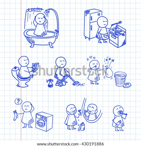 funny people icons big home set stock vector 430191886 shutterstock