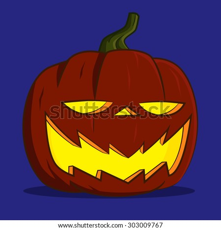 funny pumpkin lantern. Vector illustration.