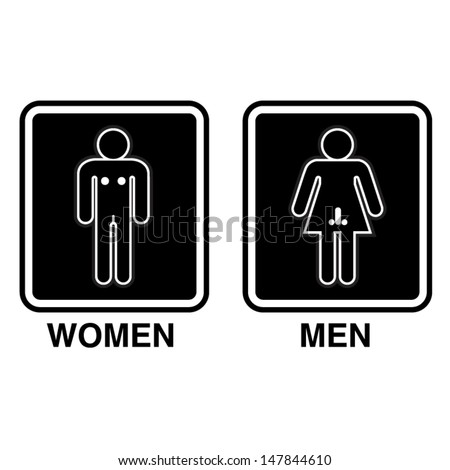 Bathroom Signs Vector funny toilet signs stock images, royalty-free images & vectors