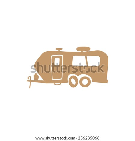 Funny simple recreational vehicle - stock vector