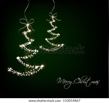 Funny Sparkler Trees. Vector
