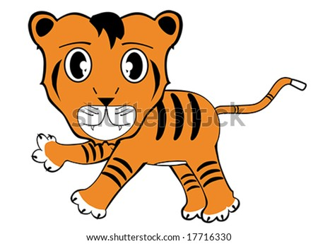 Funny tiger illustration