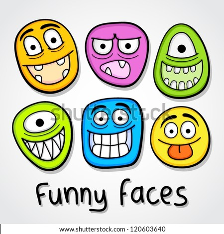 Funny vector faces.