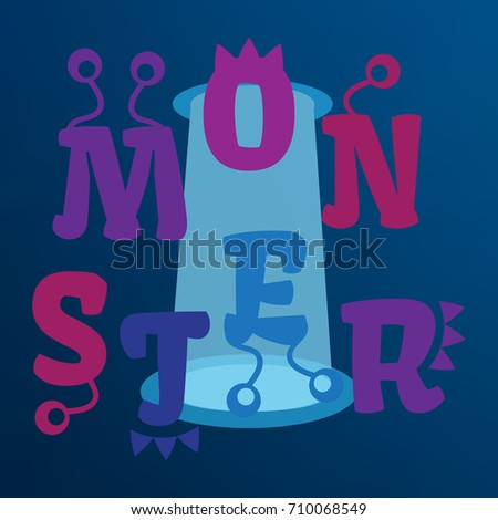 Funny Vector Monster Alphabet Kids Monster Stock Vector 710068549