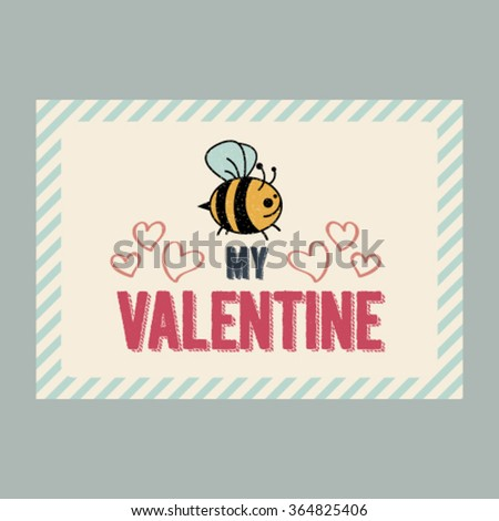 Funny Vector Valentine Card Design Cute Vector 364825406 – Funny Cute Valentines Cards