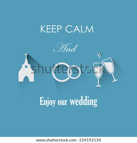 Funny wedding invitation card design - stock vector