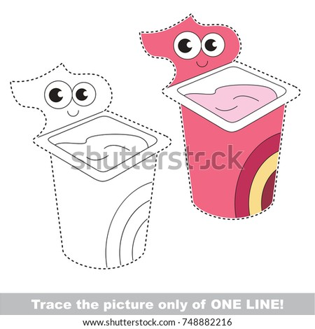 funny yogurt be traced only one stock vector royalty free