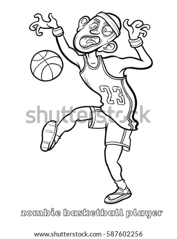 zombie football player coloring pages - photo#36