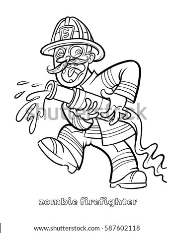 Vector fireman helmet clip art fire coloring page yellow for Firefighter coloring pages