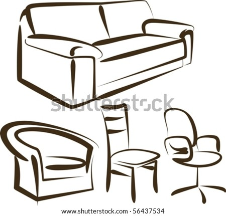 furniture - stock vector