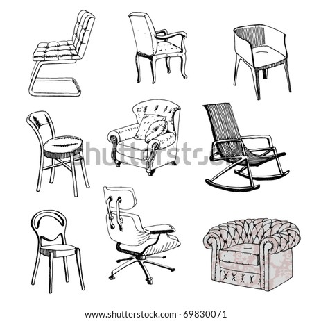 Chair sketch stock images royalty free images vectors for Sofa design sketch