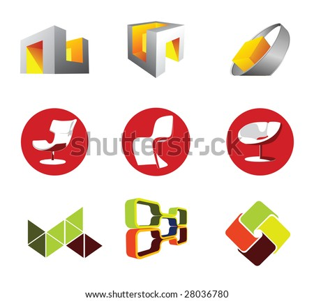 Furniture design element - stock vector