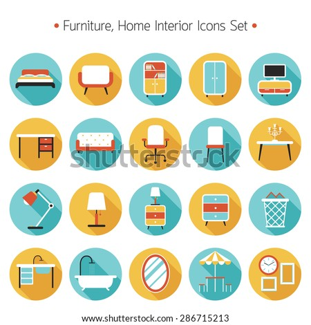 Living room objects furniture and equipment vector illustration - Quot Household Objects Quot Stock Images Royalty Free Images