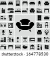 Furniture icons - stock