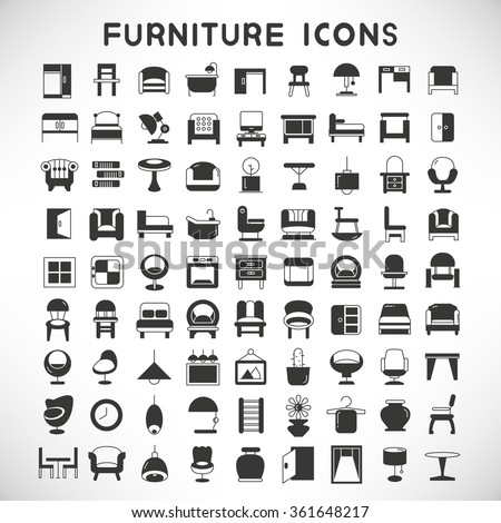 Furniture icon stock images royalty free images vectors shutterstock Home decoration vector free
