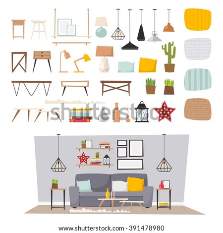 Decor stock photos royalty free images vectors for Room design vector