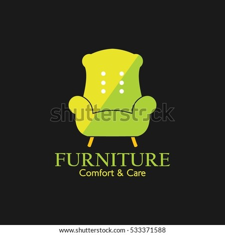 Living room objects furniture and equipment vector illustration - Interior Design Icon Stock Images Royalty Free Images
