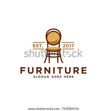 Furniture Logo Template Chair Vector Illustration Stock Vector ...
