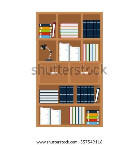 Furniture Office Library Bookshelf Lamp