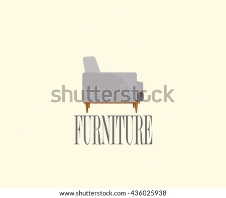Furniture. The modern chair. - stock vector