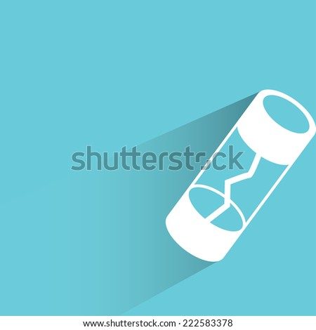 fuse in blue background, flat and shadow design - stock vector