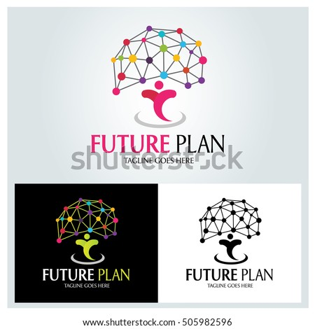 Future Plan Logo Design Template Brain Stock Vector Royalty Free