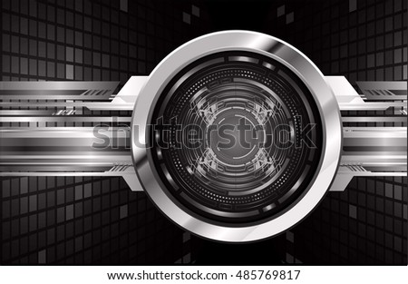 future technology, black silver eye cyber security concept background, abstract hi speed digital internet.motion move speed blur. eyeball vector