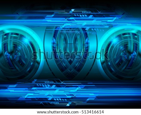 future technology, blue cyber security concept background, abstract hi speed digital internet.motion move speed blur. pixel vector
