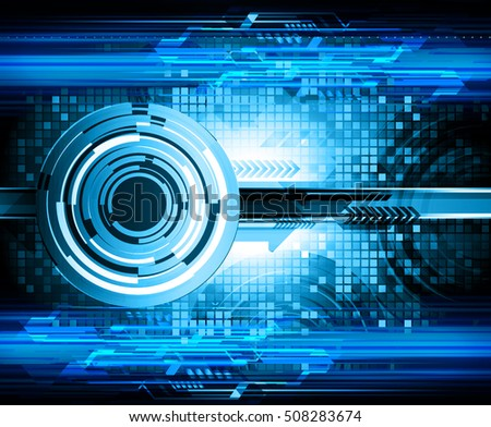 future technology, blue eye cyber security concept background, abstract hi speed digital internet.motion move speed blur. pixel eyeball vector