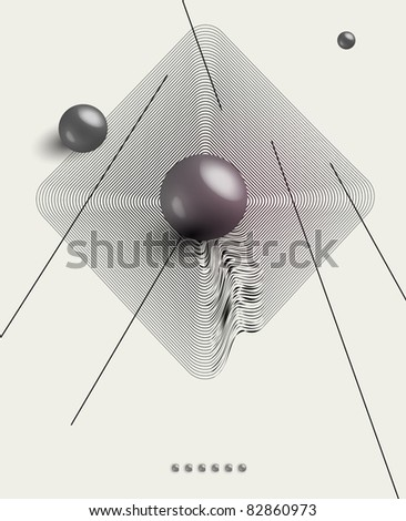 futuristic art background - stock vector
