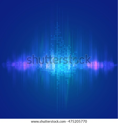 futuristic backdrop; wave form technology background