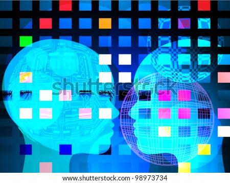 Futuristic background - stock vector