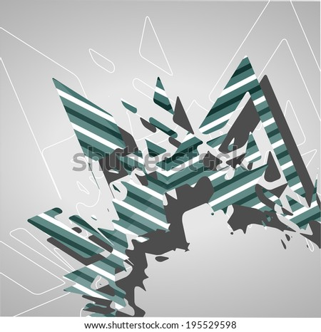 Futuristic background, geometric technology style illustration.