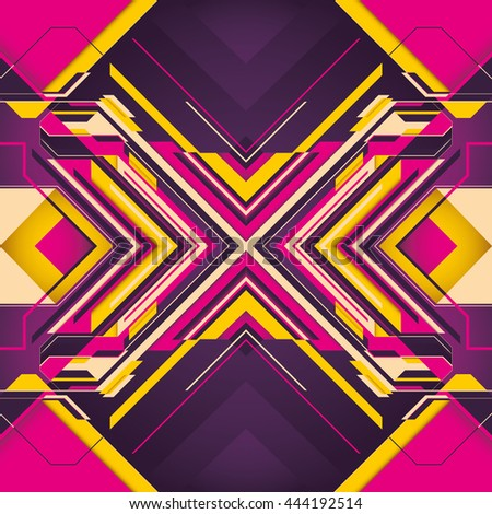 Futuristic background with abstraction in color. Vector illustration. - stock vector
