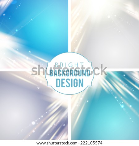 Futuristic blue abstract glowing background. Vector illustration. - stock vector