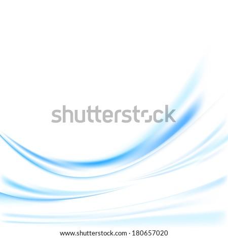 Futuristic blue swoosh lines background. Vector illustration - stock vector