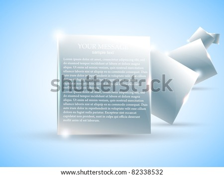 Futuristic bright minimal design with huge space for information. Fully editable. - stock vector