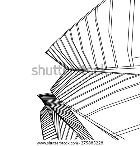 futuristic buildings - stock vector