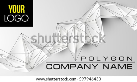 Futuristic 3d Polygonal Background Abstract Chaotic Geometric Shape For Introduce Presentation Company Name