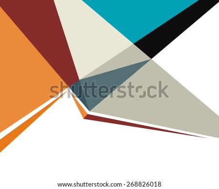 Futuristic Design, background with triangle. Abstract design layout template. - stock vector